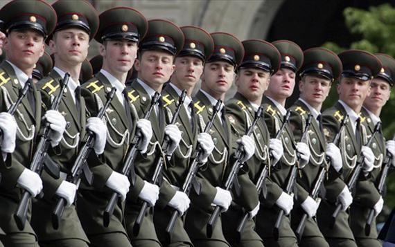 курсанты, парад