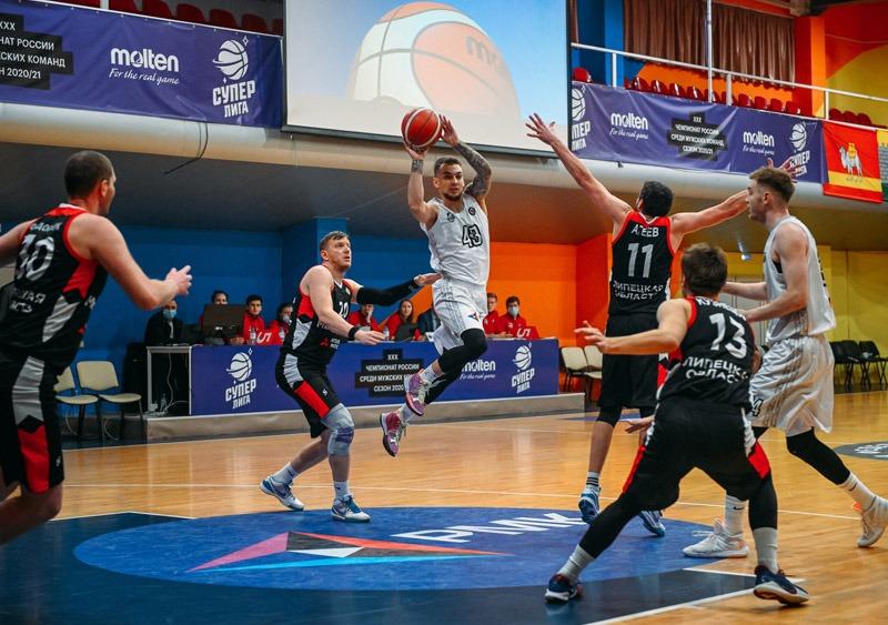 Движение вниз: липецкие баскетболисты проиграли с разницей в 65 очков