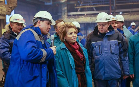 Матвиенко: Липецкий металлургический комбинат— один излидеров инноваций