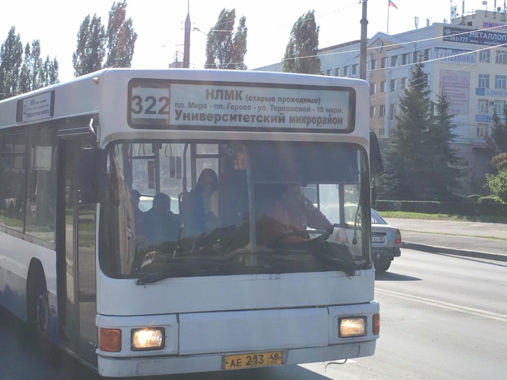 Маршрут автобуса 27 на карте Липецка